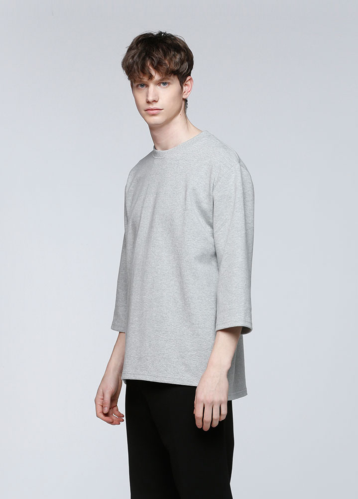 3/4 LOOSE SWEATSHIRT[GREY]