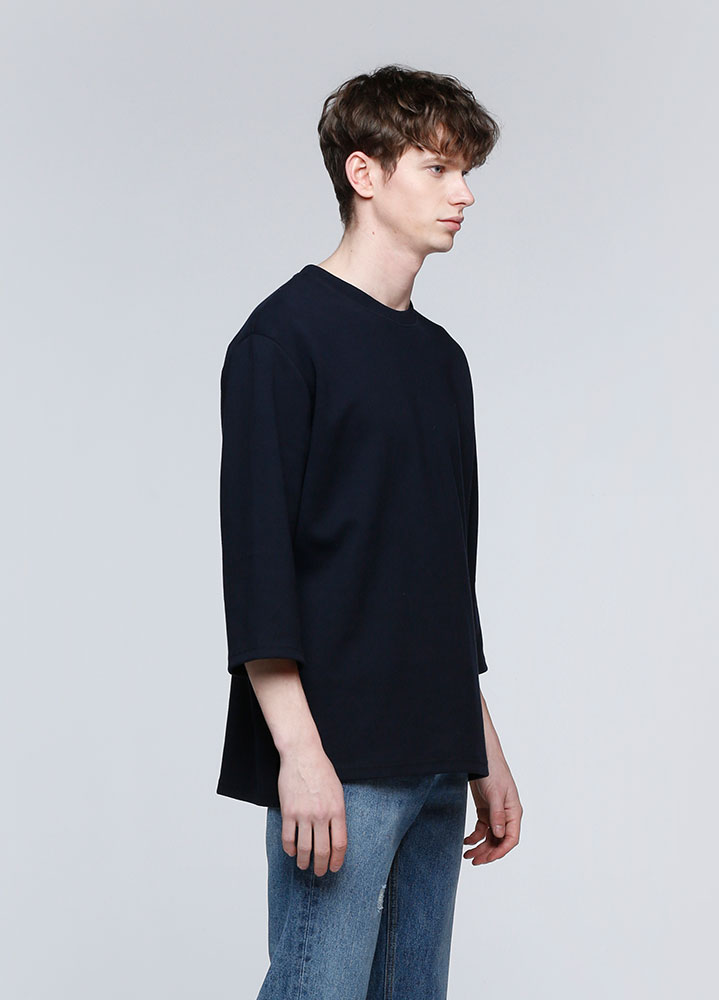 3/4 LOOSE SWEATSHIRT[NAVY]