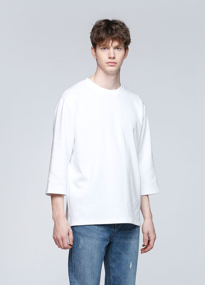 3/4 LOOSE SWEATSHIRT[WHITE]