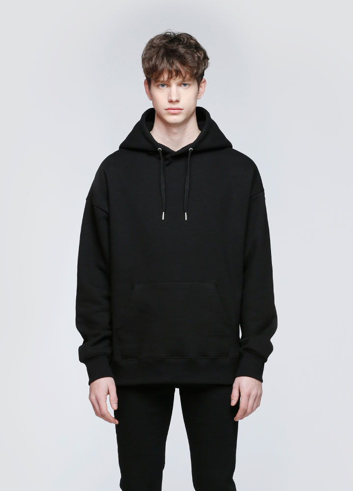 JACE OVERSIZED PULLOVER HOODIE[BLACK]