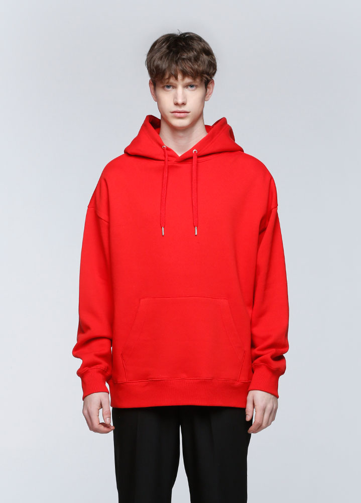 JACE OVERSIZED PULLOVER HOODIE[RED]