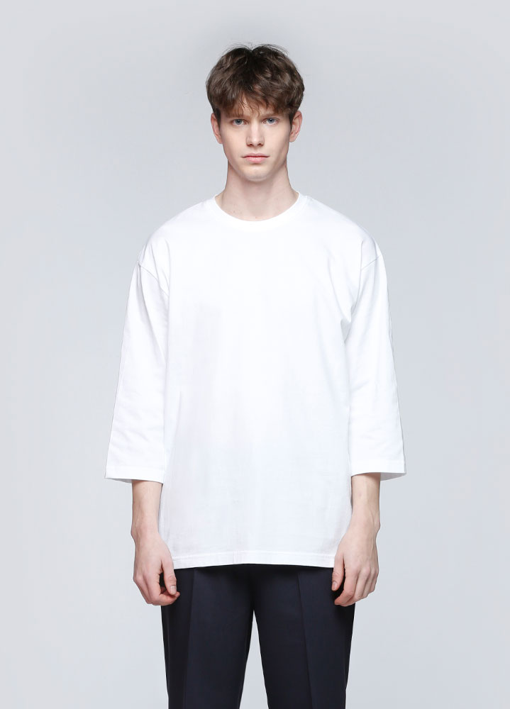 OVERSIZED 3/4 TSHIRT[WHITE]
