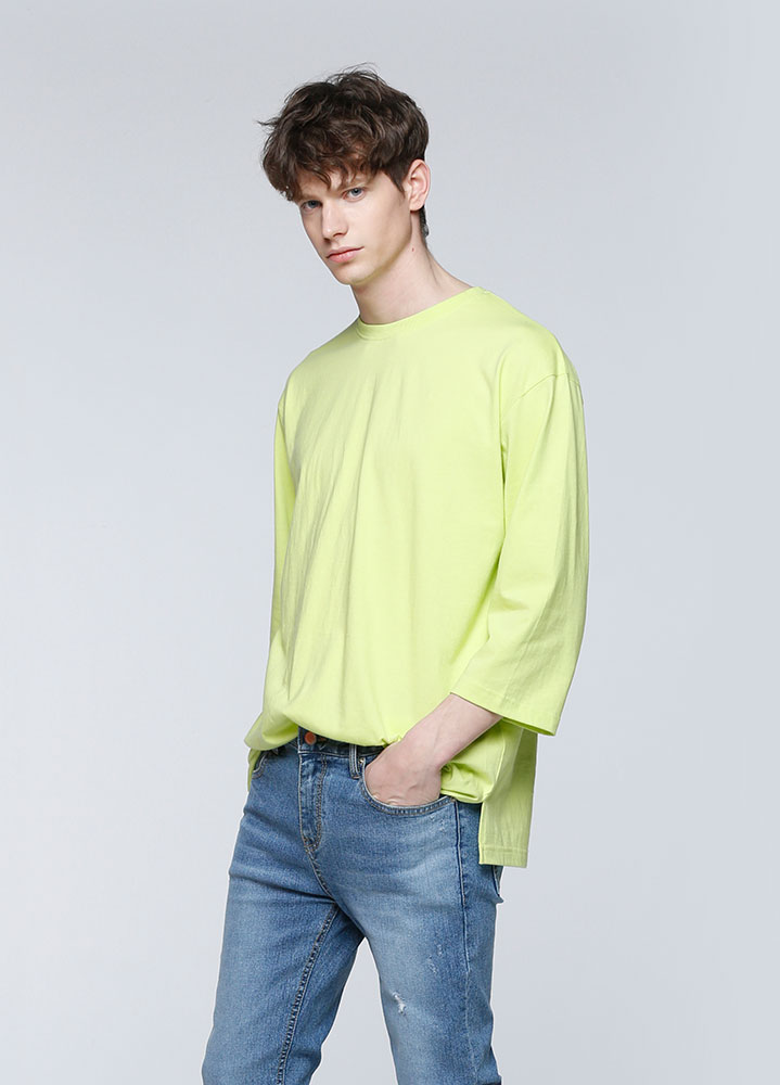 OVERSIZED 3/4 TSHIRT[LIME]