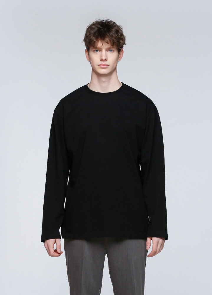 OVERSIZED LONG TSHIRT[BLACK]