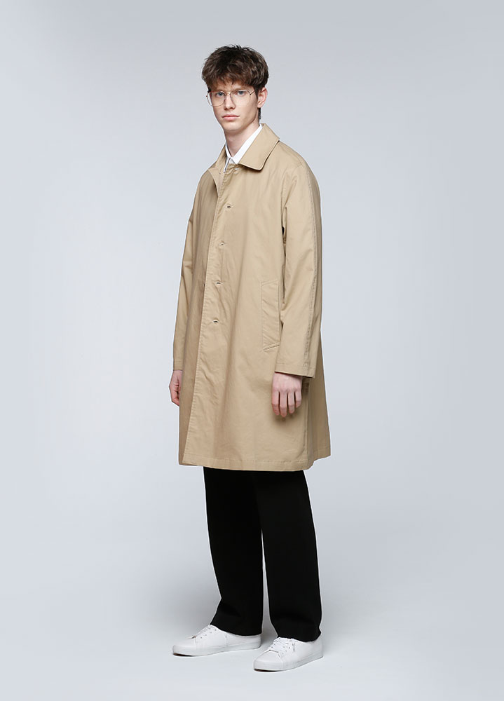 LOOSE FIT COTTON SINGLE COAT[BEIGE]