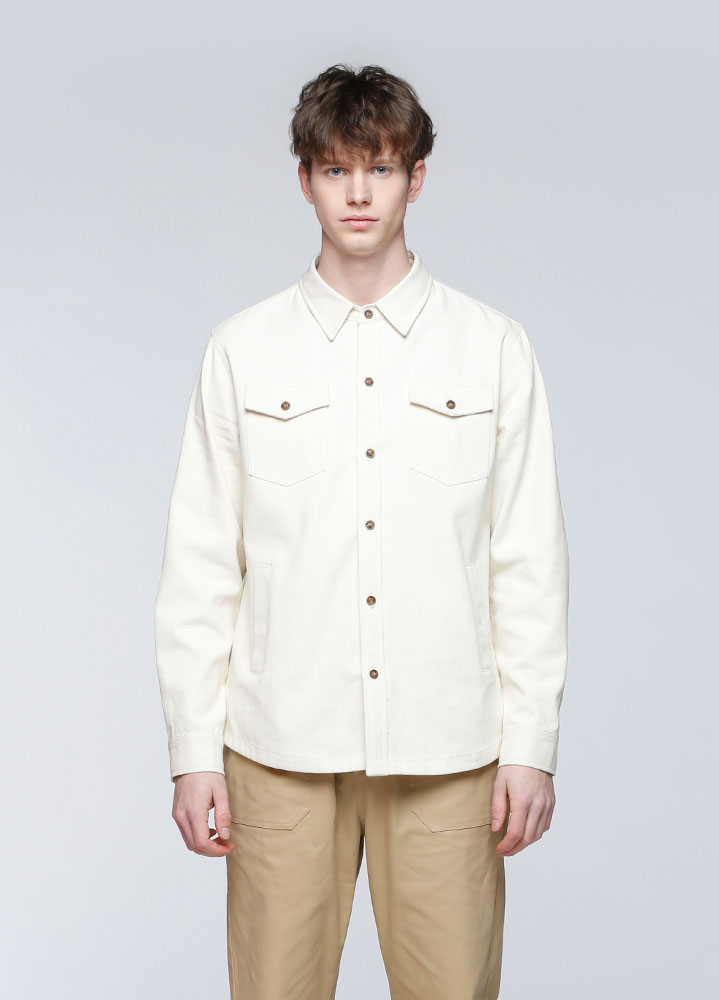 HEAVY COTTON UTILITY SHIRT[IVORY]