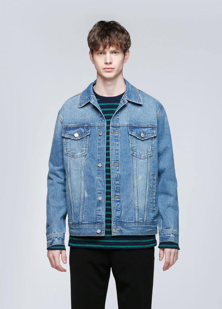 SEMI LOOSEFIT MEDIUM DENIM JACKET
