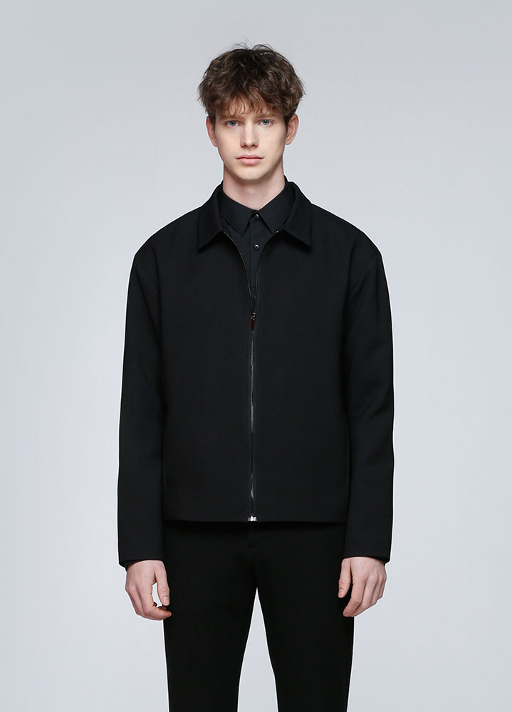 MINIMAL SINGLE JACKET[BLACK]