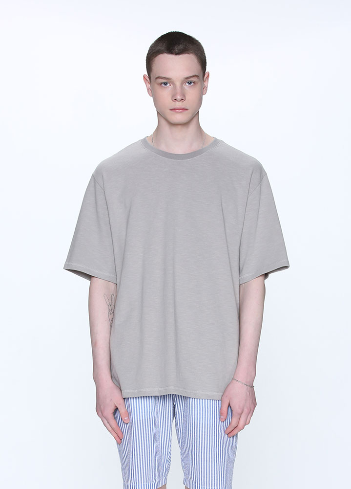 HEAVYWEIGHT SLUB SHORT TSHIRT[GREY]