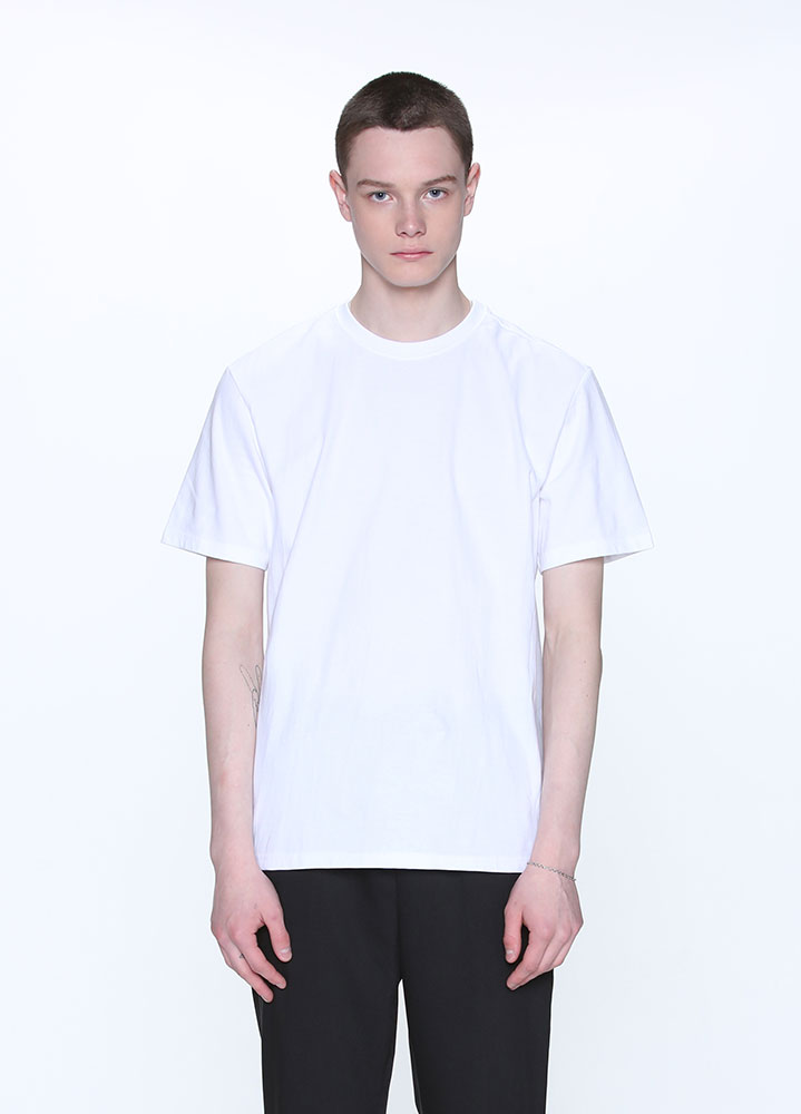 LONG REGULAR FIT SHORT TSHIRT[WHITE]