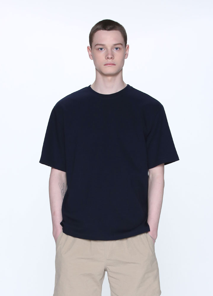 NEW OVERSIZED SHORT TSHIRT[NAVY]