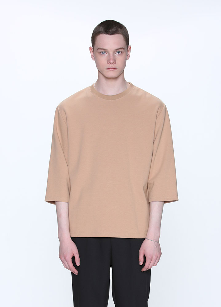 3/4 LOOSE SWEATSHIRT[BEIGE]