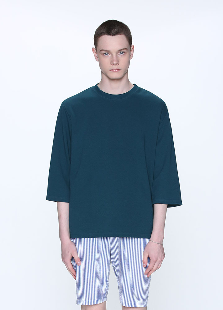 3/4 LOOSE SWEATSHIRT[DEEP GREEN]