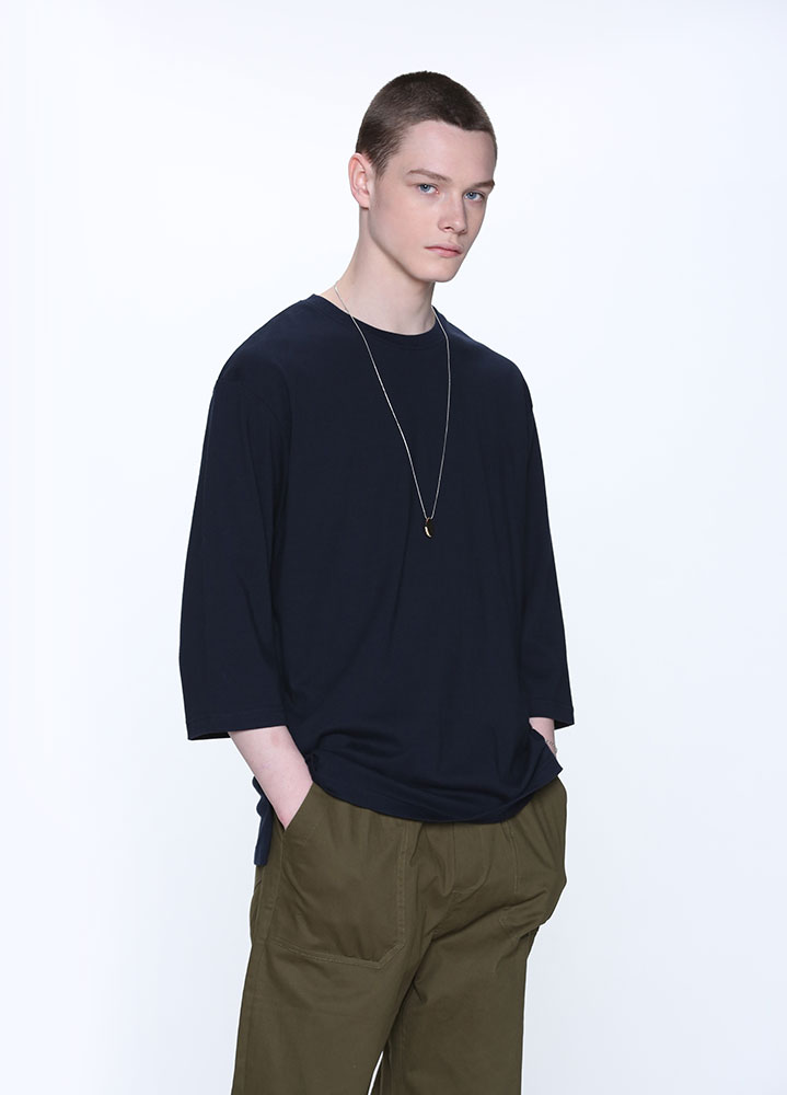 OVERSIZED 3/4 TSHIRT[NAVY]