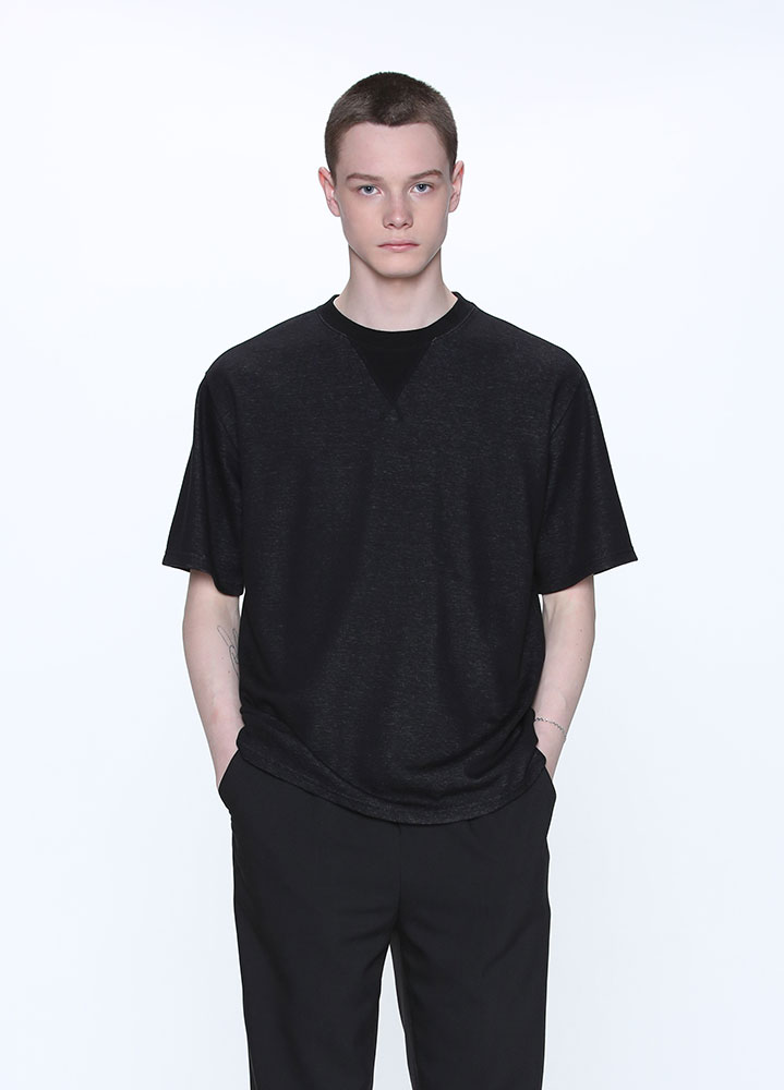 COMFORTABLE TSHIRT[BLACK]