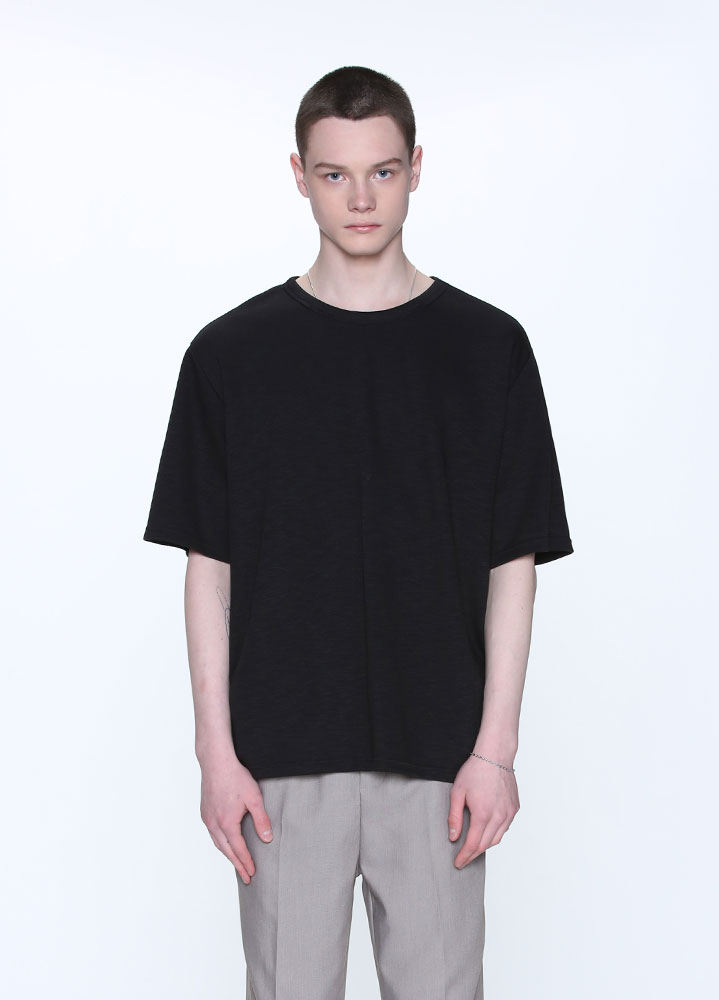 SOFT SLUB TSHIRT[BLACK]