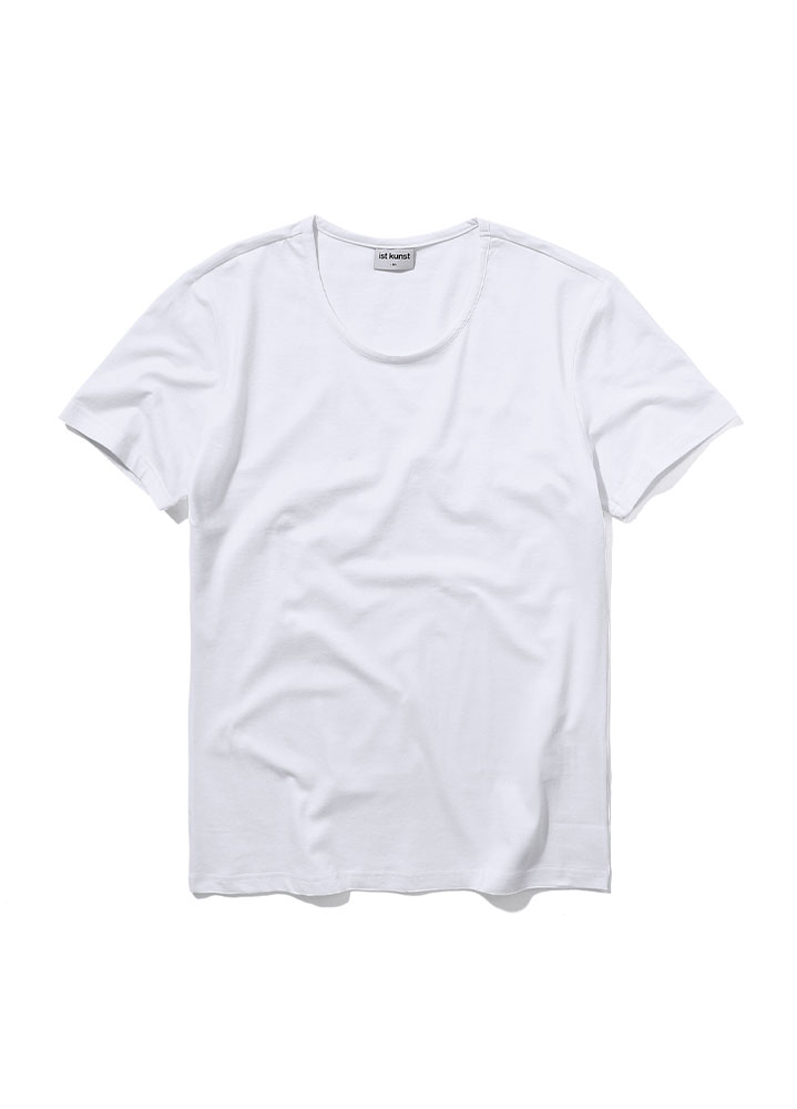[STANDARD]SCOOPNECK COTTONSPAN TSHIRT[WHITE]