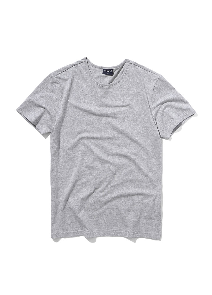 [STANDARD]ROUNDNECK COTTONSPAN TSHIRT[GREY]