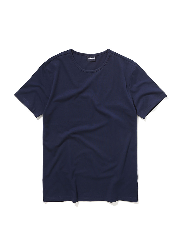 [STANDARD]ROUNDNECK COTTONSPAN TSHIRT[NAVY]