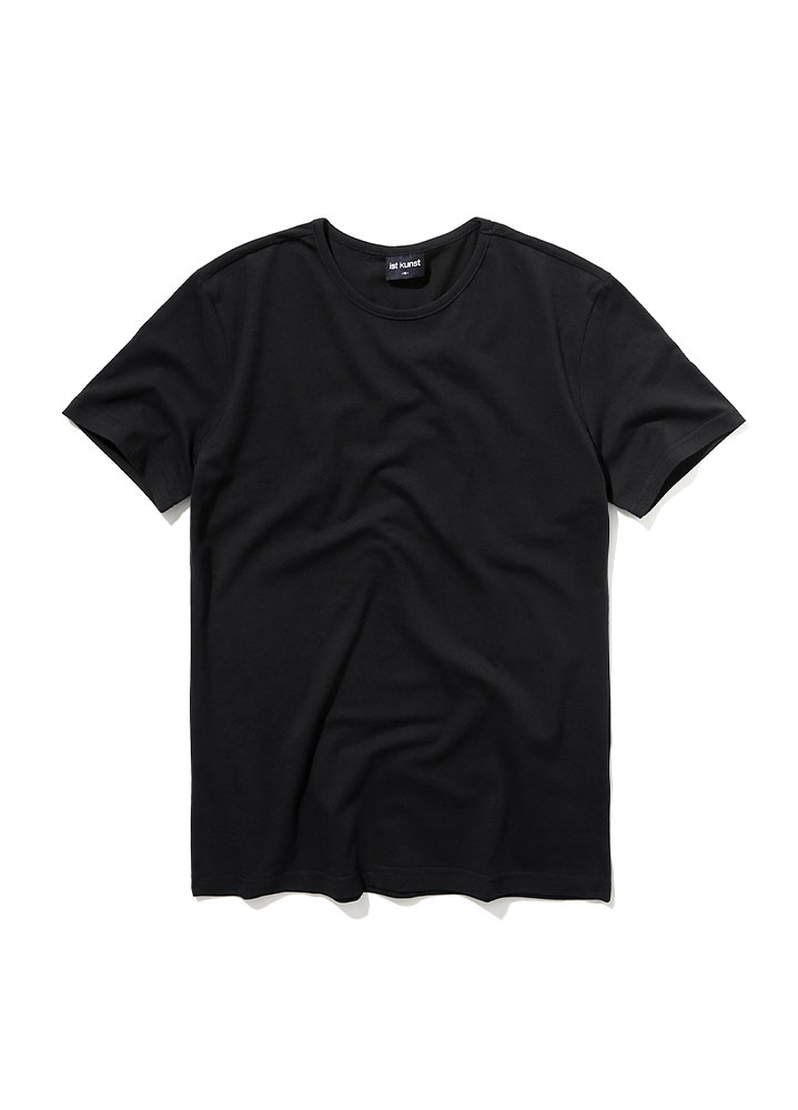 [STANDARD]ROUNDNECK COTTONSPAN TSHIRT[BLACK]