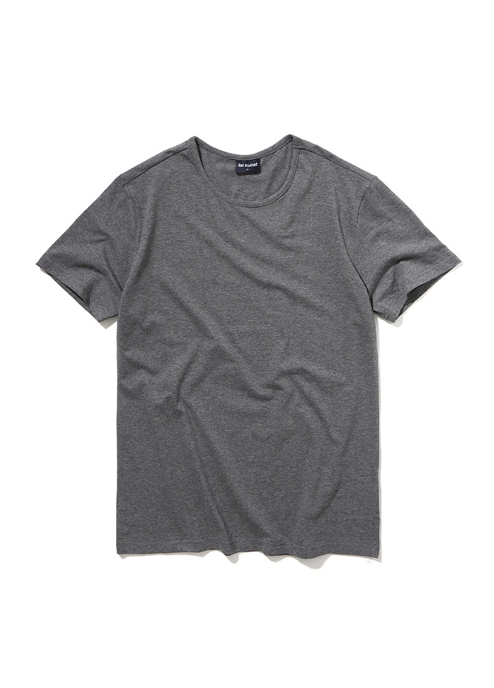 [STANDARD]ROUNDNECK COTTONSPAN TSHIRT[CHARCOAL]