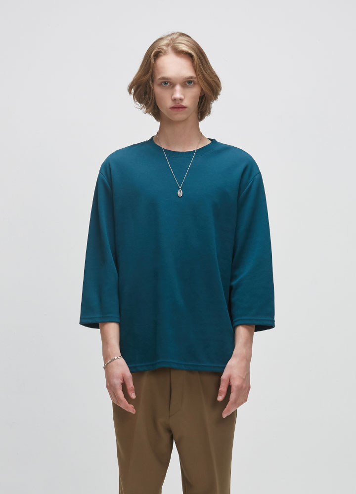 3/4 DROP SWEATSHIRT[DEEP GREEN]