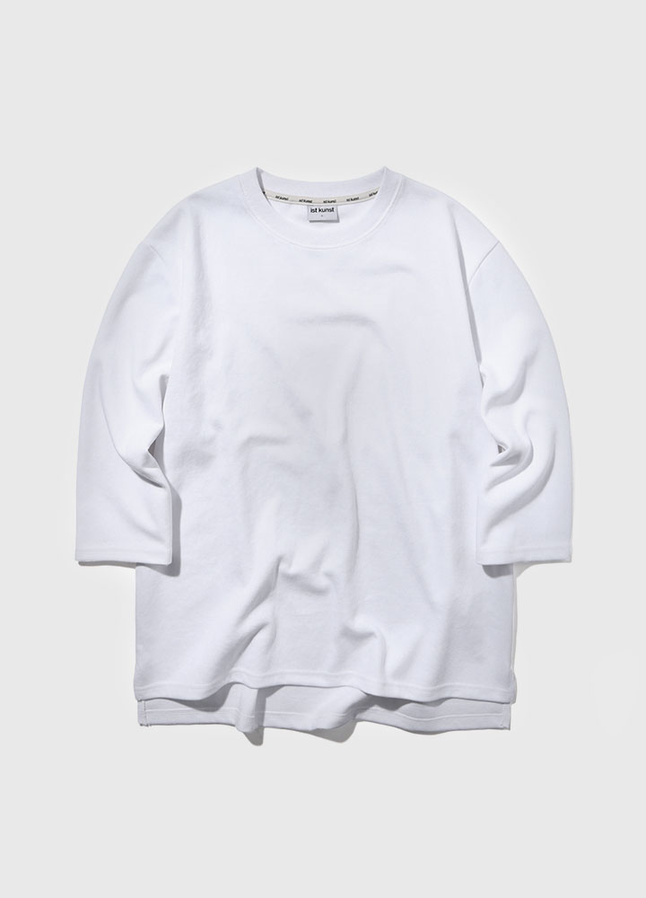 3/4 DROP SWEATSHIRT[WHITE]