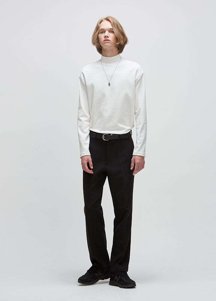LONG WIDE SLACKS[BLACK]