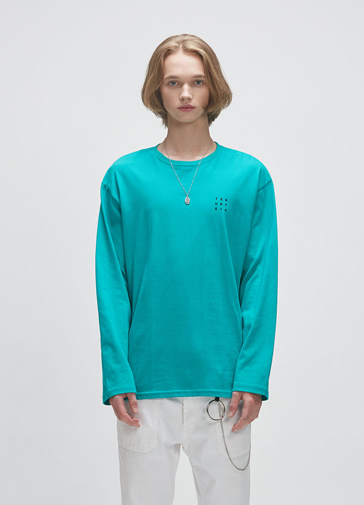 REVERSE LOGO LONG TEE[GREEN]
