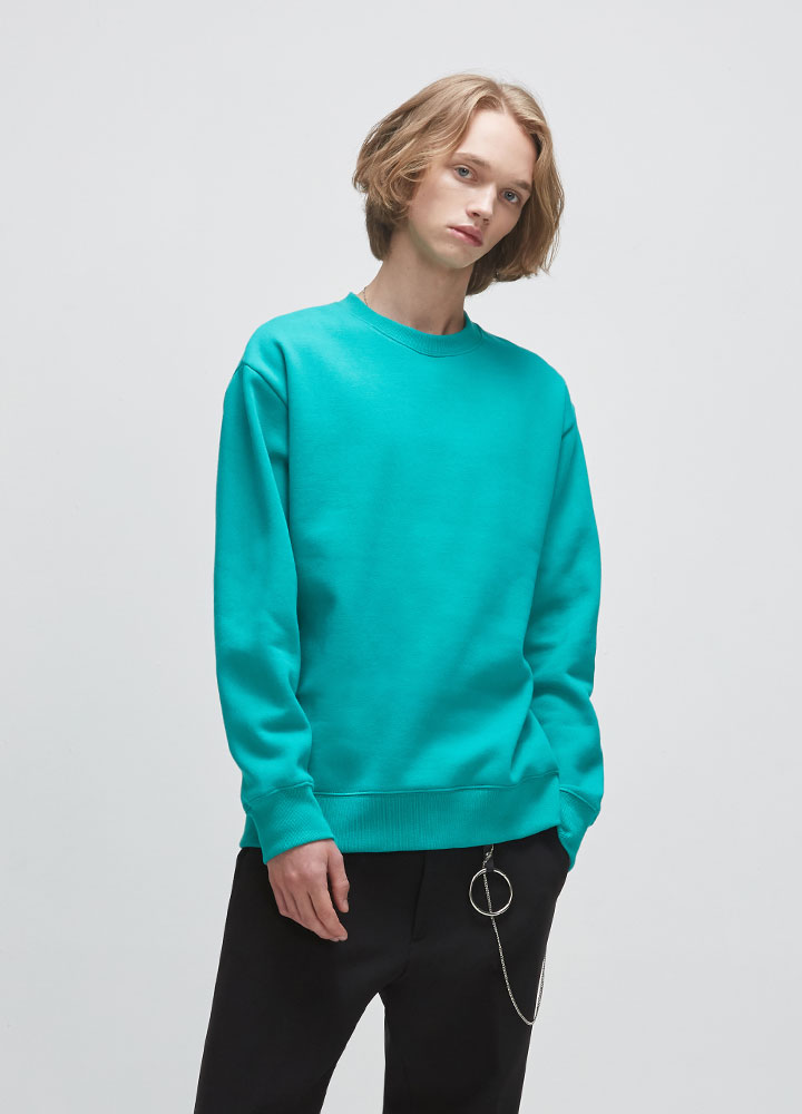 BASIC SWEATSHIRT[GREEN]