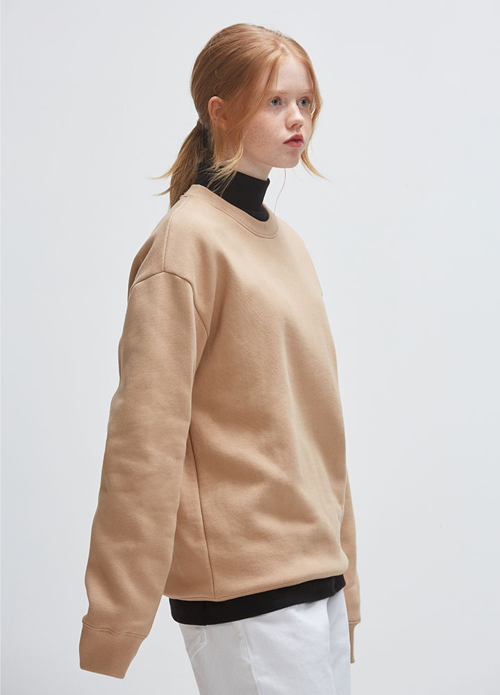 BASIC SWEATSHIRT[BEIGE]