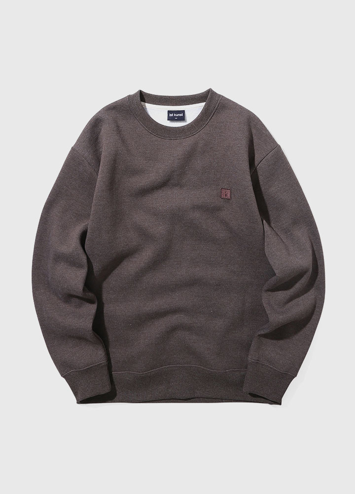 IK WAPPEN MELANGE SWEATSHIRT[BROWN]