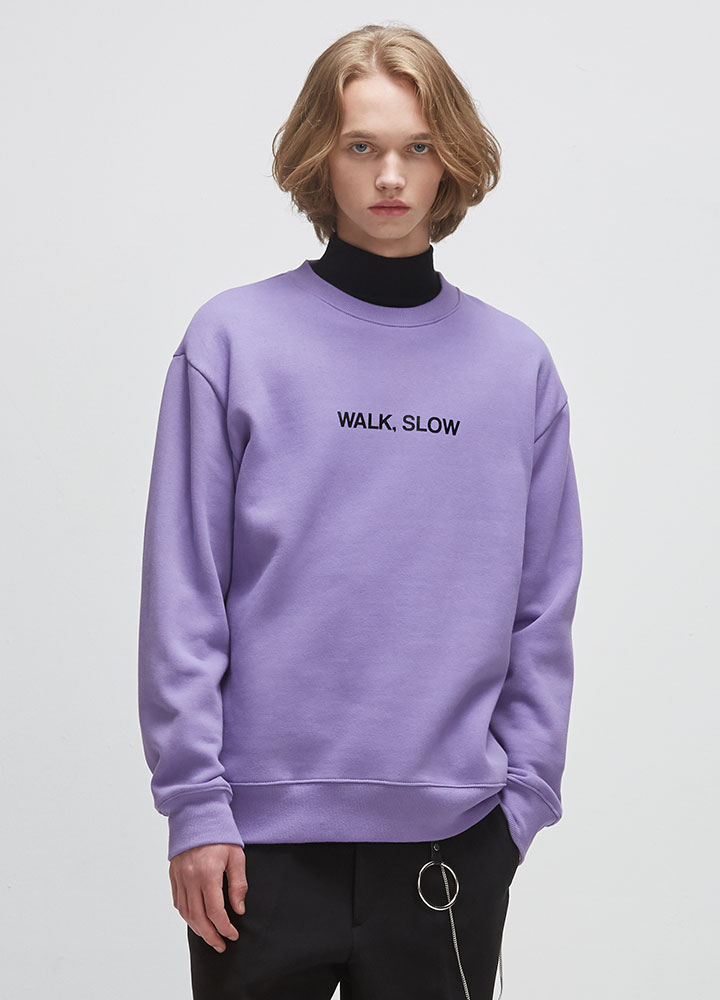 WALK SLOW SWEATSHIRT[LAVENDER]