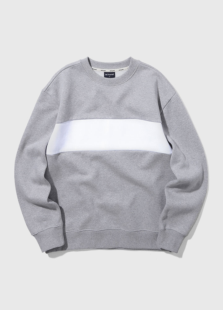 BLOCK SWEATSHIRT[GREY]