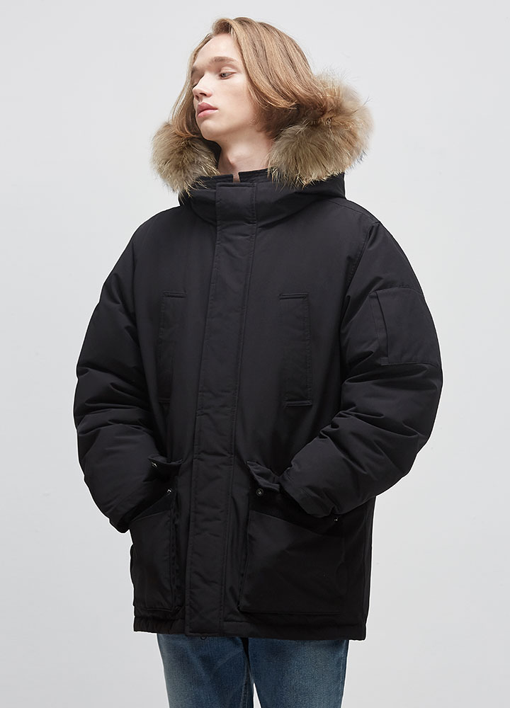 GLEN DOWN PARKA[BLACK]