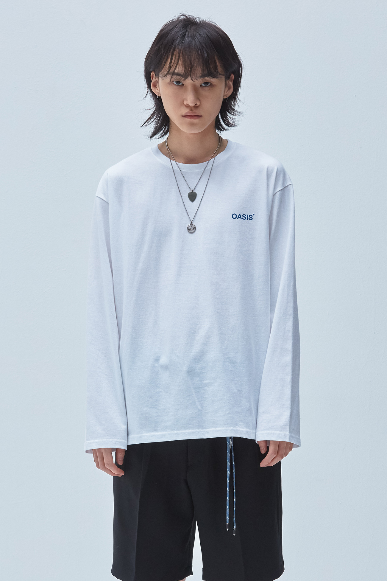 OASIS 3D LONG SLEEVE TSHIRT[WHITE]