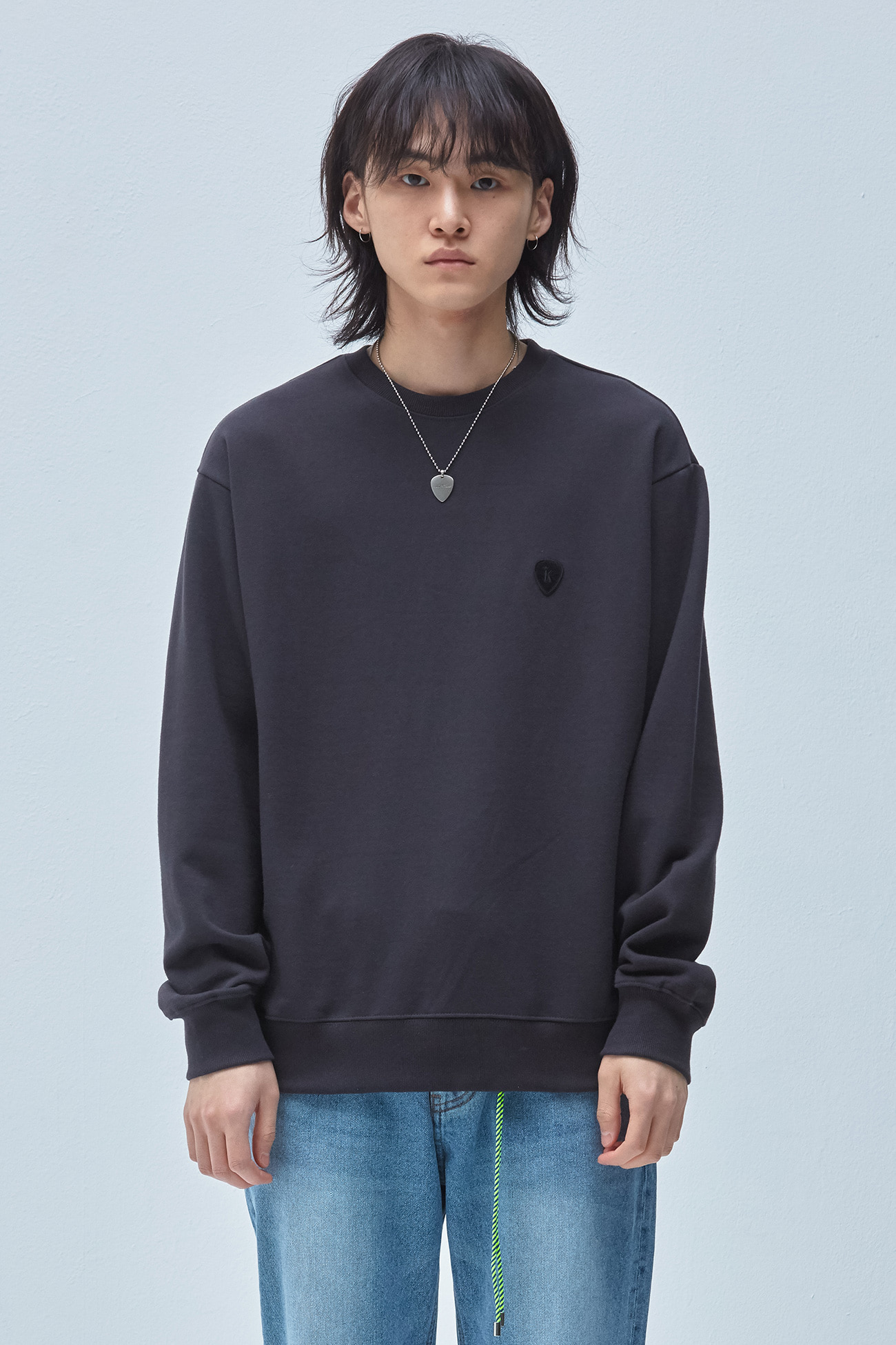 PICK WAPPEN SWEATSHIRT[DARK GERY]