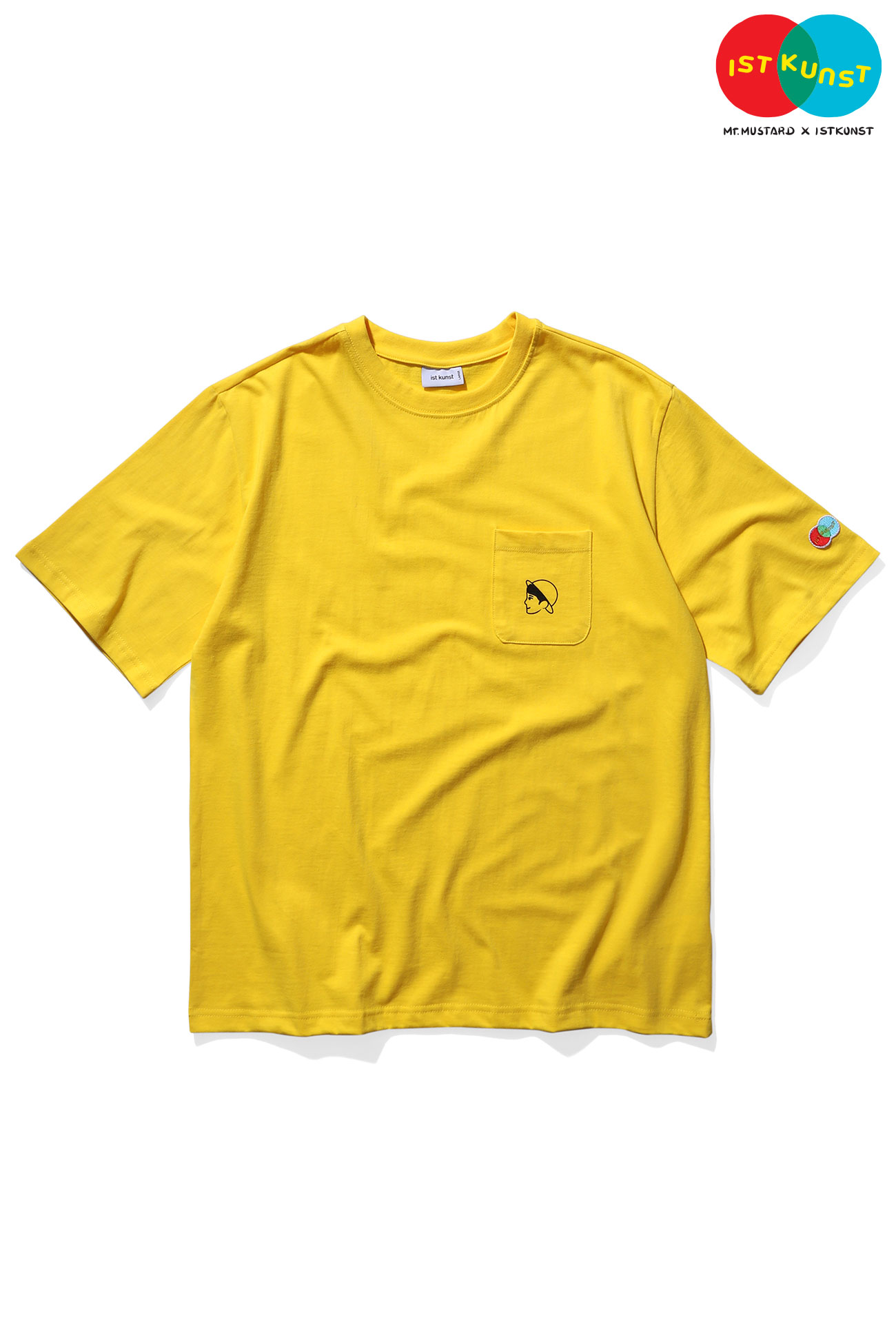 MUSTARD VEN POCKET TSHIRT[YELLOW]