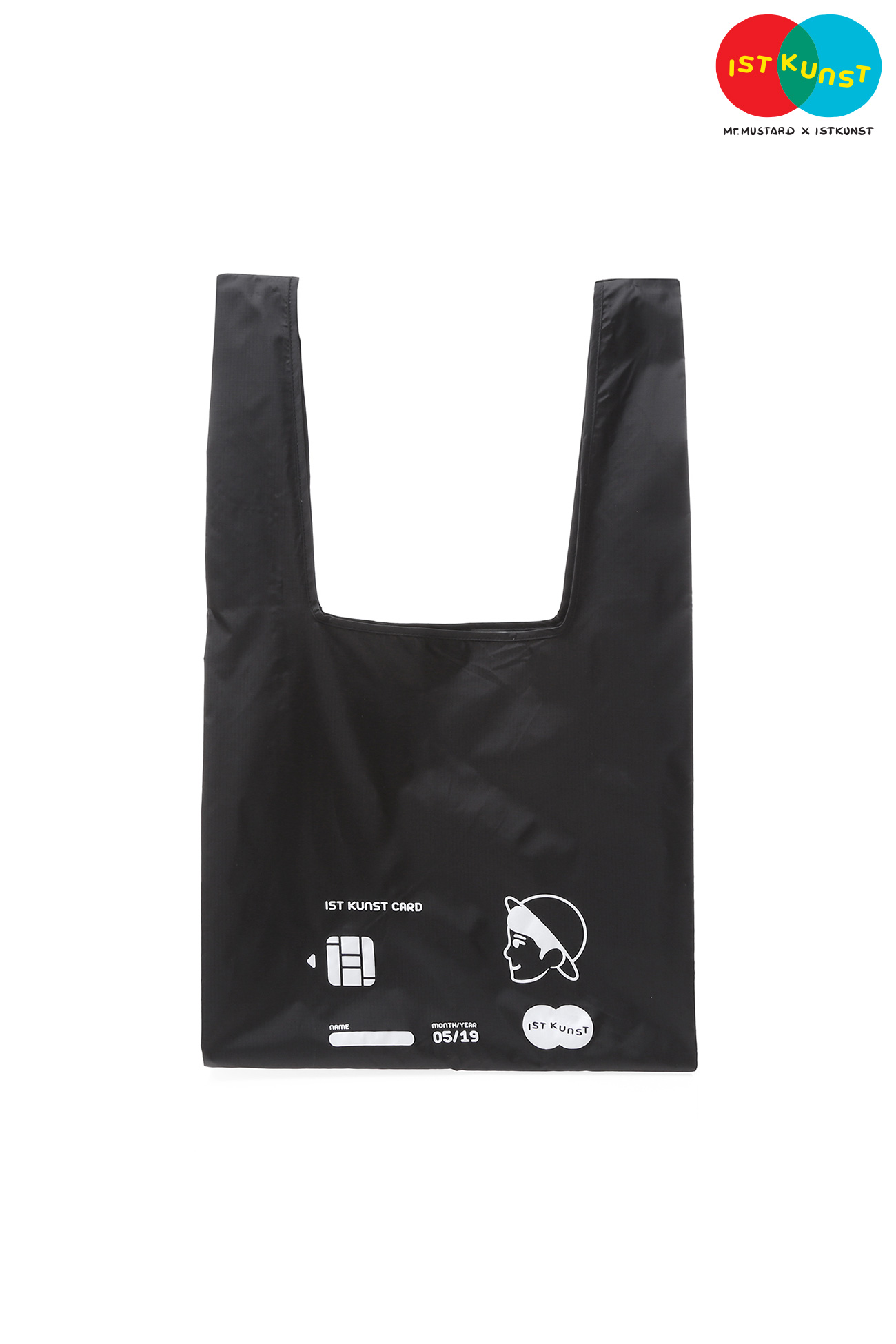 MUSTARD CARD SHOPPER BAG[BLACK]