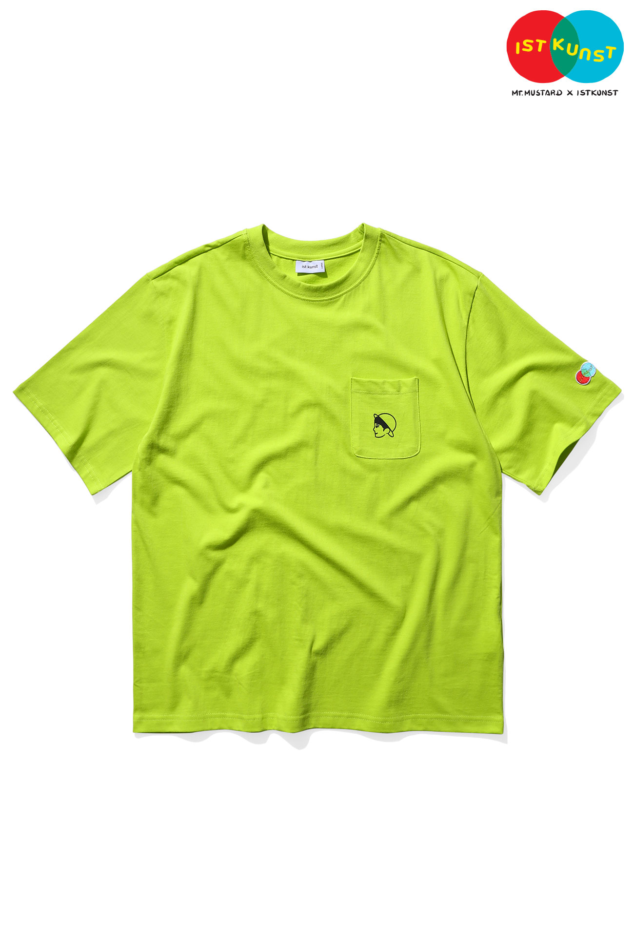 MUSTARD VEN POCKET TSHIRT[LIME]