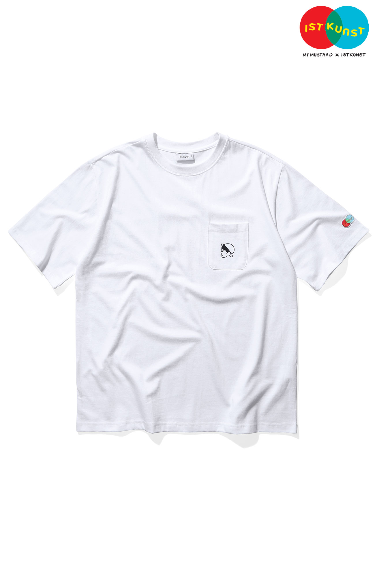 MUSTARD VEN POCKET TSHIRT[WHITE]