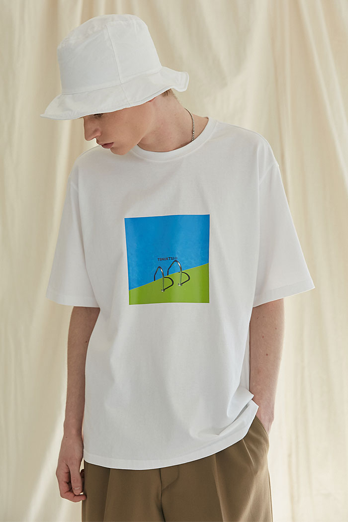 SWIMMING POOL TSHIRT[WHITE]