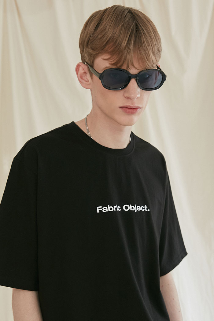 FABRIC OBJECT TSHIRT[BLACK]