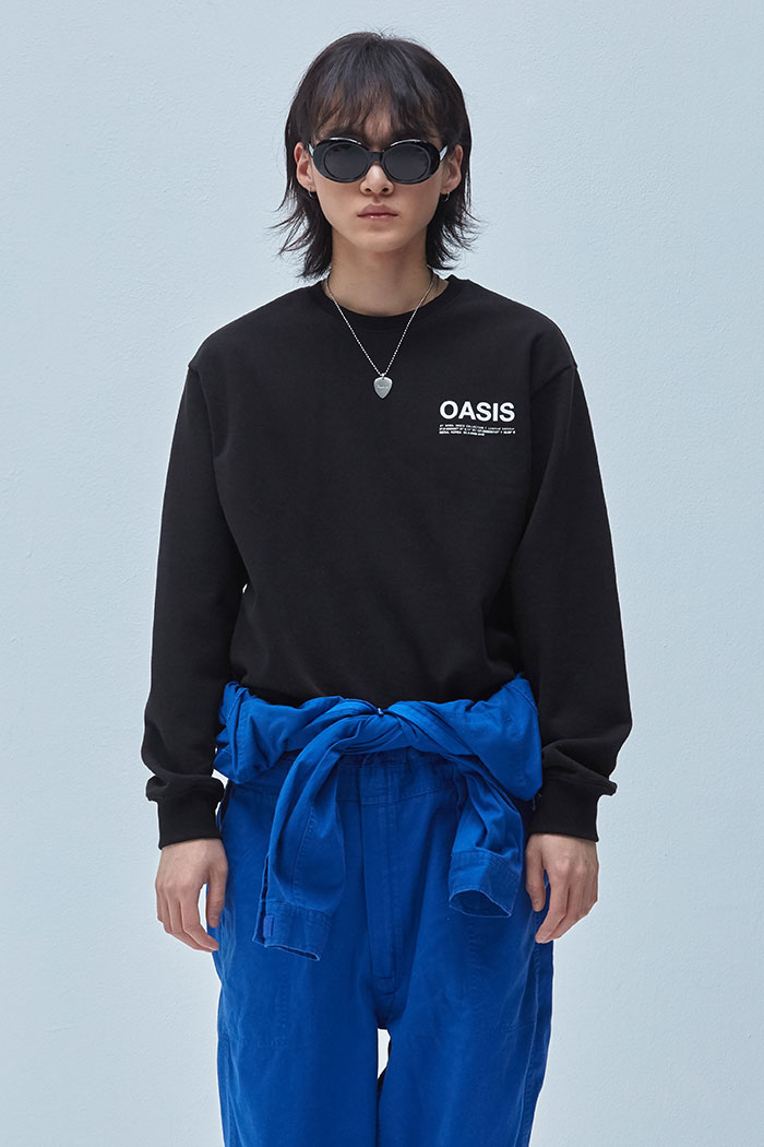 INFORMATION SWEATSHIRT[BLACK]