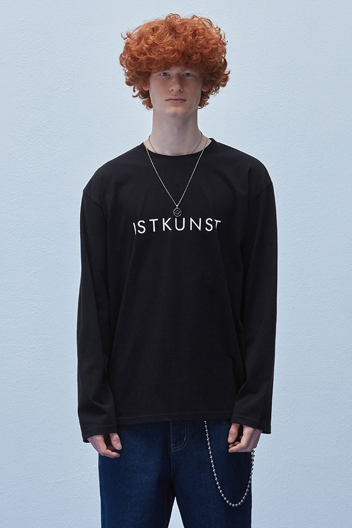 LOGO LONG SLEEVE TSHIRT[BLACK]