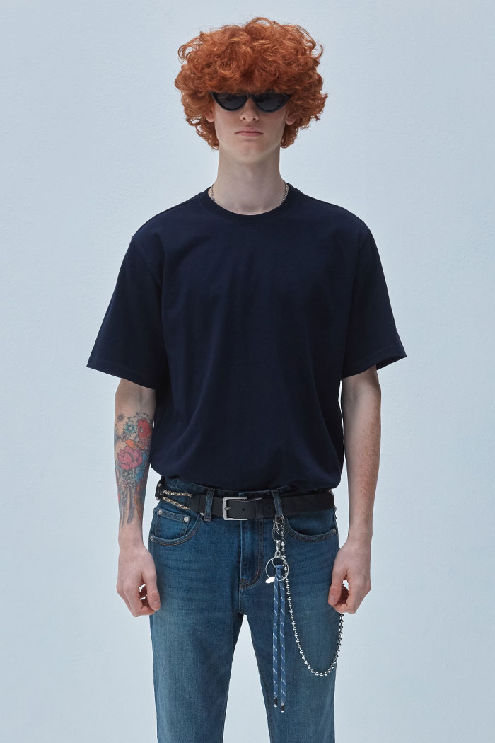 REGULAR FIT TSHIRT[NAVY]