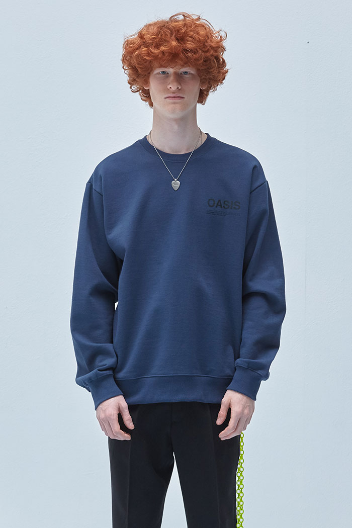 INFORMATION SWEATSHIRT[BLUE GREY]