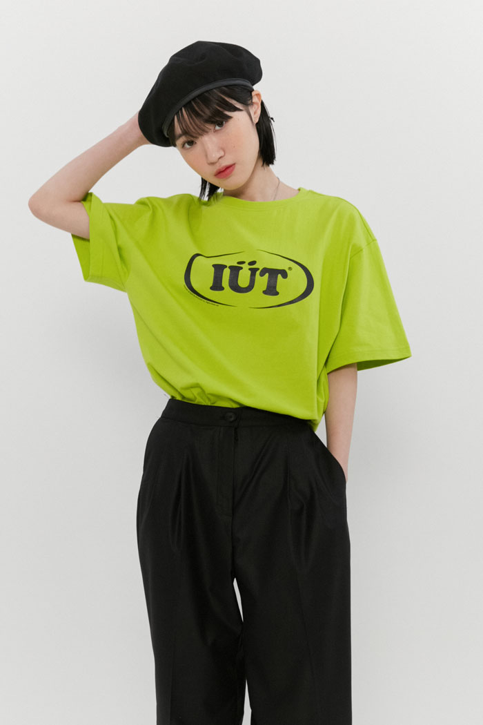 OVAL LOGO TEE[NEON YELLOW]