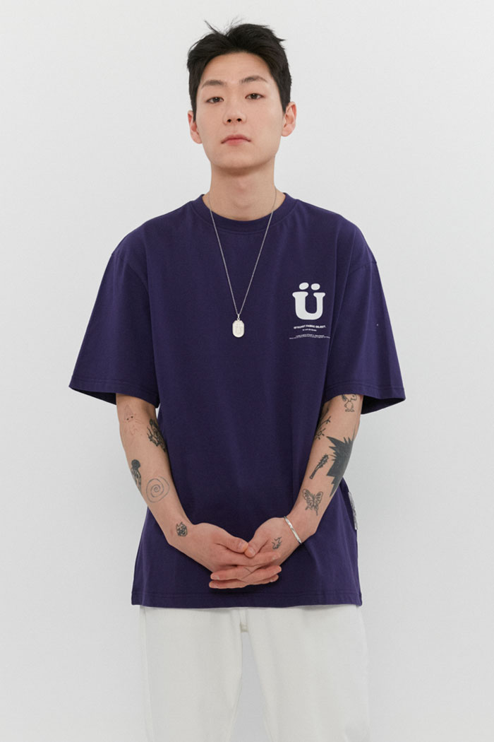 BIG U LOGO TEE[PURPLE]