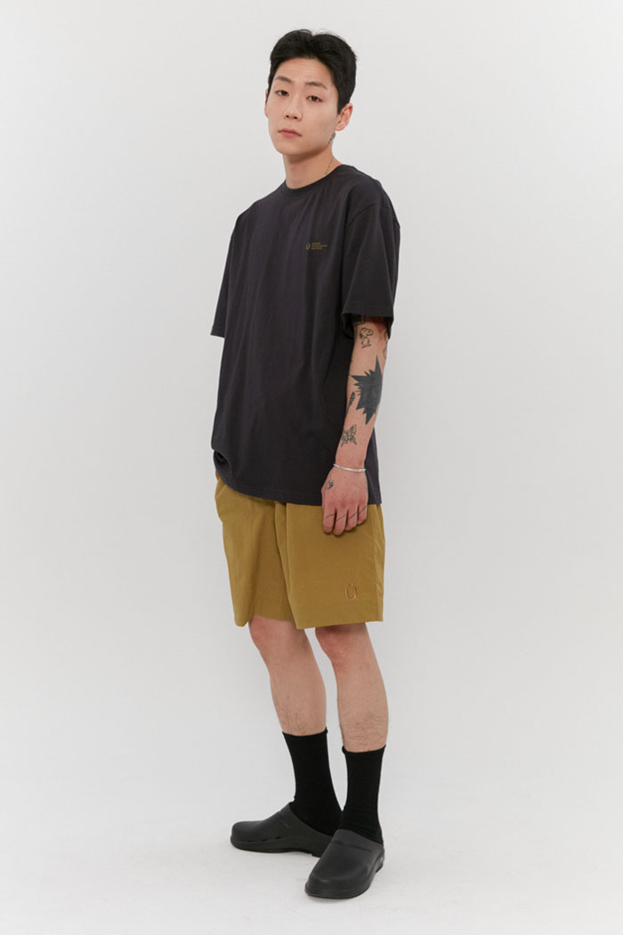 TASLAN BEACH SHORT PANTS[MUSTARD]